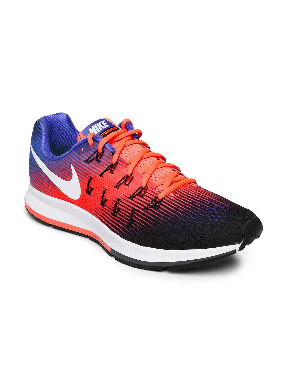 nike men multicoloured air zoom pegasus 33 running shoes price in india