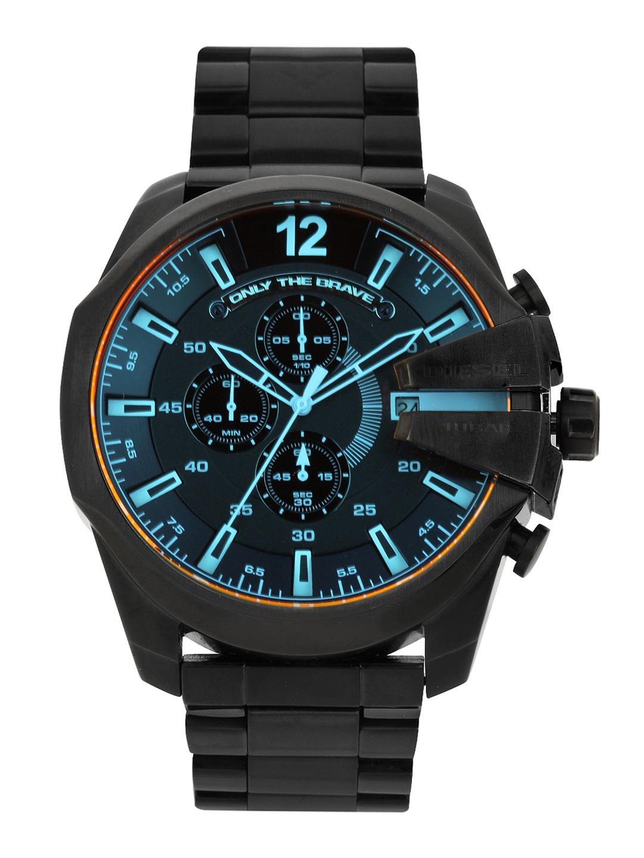 diesel watches buy diesel watches online in diesel men black dial chronograph watch dz4318i