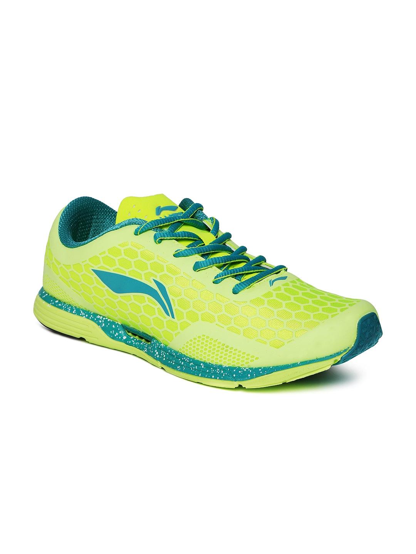 Li Ning Men Fluorescent Green Super Light Running Shoes In India