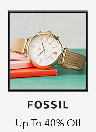 Fossil up to 40% off
