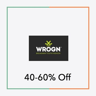 Wrogn 50 to 60% off