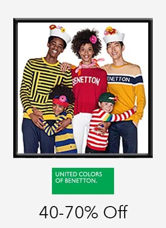 United Colors Of Benetton Collections 40%-70% off