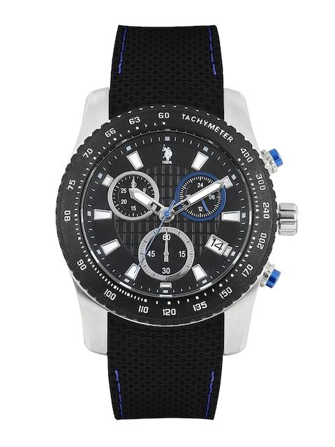 buy u s polo assn men black dial chronograph watch usat0119 buy u s polo assn men black dial chronograph watch usat0119 watches for men myntra