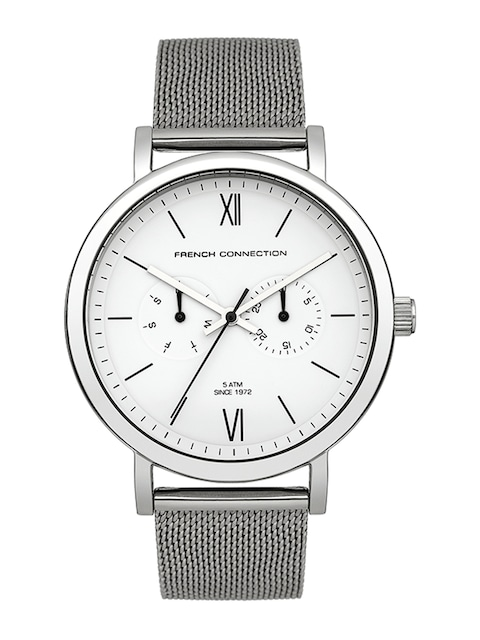 buy fcuk men white dial watch fc1223smgj watches for men myntra