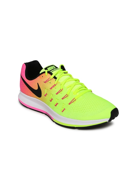best service adbe2 a37aa Buy Nike Women Fluorescent Green   Pink AIR ZOOM PEGASUS 33 OC Running  Shoes - Sports Shoes for Women   Myntra
