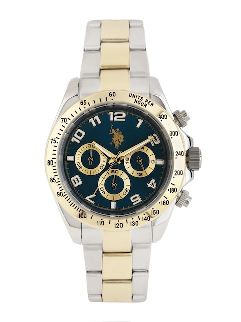buy u s polo assn men navy chronograph watch usat0117 watches buy u s polo assn men navy chronograph watch usat0117 watches for men myntra