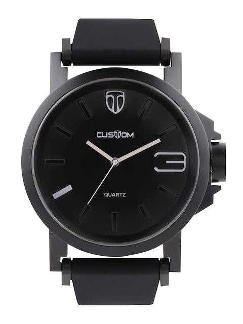 buy custom men black dial watch c91008 watches for men myntra
